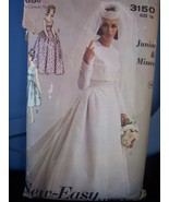 Advance 3150 Wedding Gown n Jacket Pattern 1962 B36 - $15.99