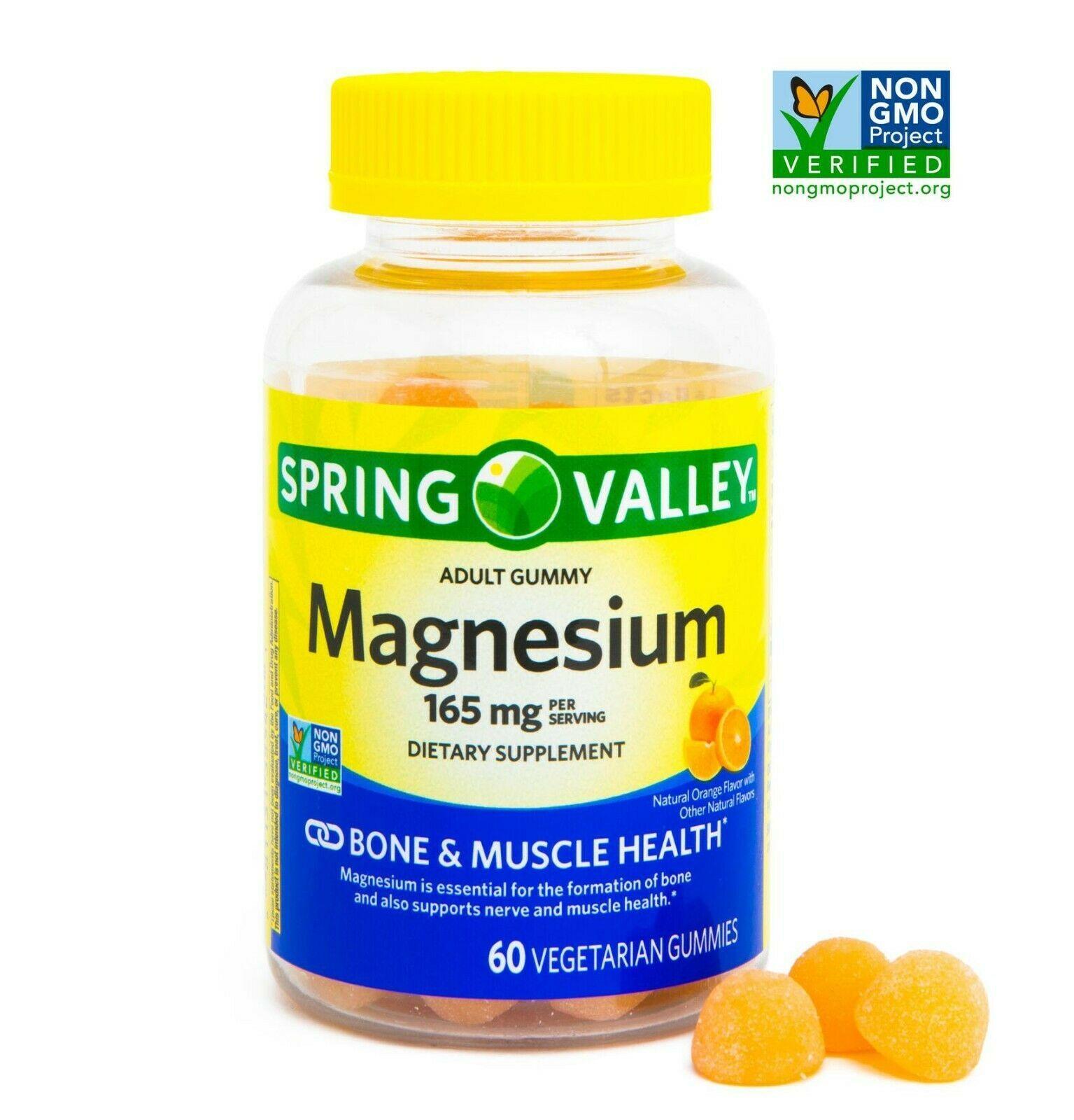Spring Valley Sv Magnesium 165 mg Vegetarian Gummies 60 count.. - $25.99