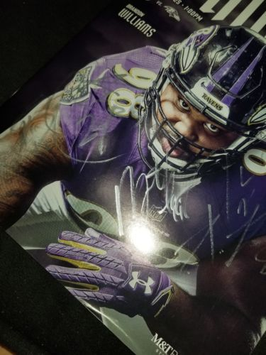 Baltimore Ravens GAME DAY Program Multi Autographs Brandon Carr, Cyrus Jones, Ty image 2