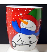 Mug Soup Coffee Cocoa Christmas Holiday 22 oz Let It Snow Happy Frosty S... - $18.95