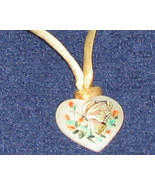 Vintage '70's Hand Painted Heart on a Satin Choker FREE SHIPPING - $11.95