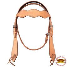 Hilason Western American Leather Horse Bridle Headstall Tan U-3-HS - $54.00