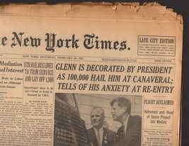 The New York Times Newspaper February 24, 1962 - $6.95