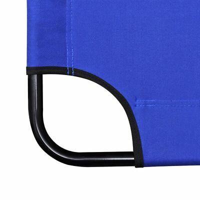 vidaXL 2x Folding Sun Loungers Reclining Chairs 3 Positions Sunbeds 3 Colors image 5
