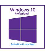 Windows 10 Pro Professional Key With Download 32/64 Bit - $7.20