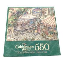 Milton Bradley The Cobblestone Way Marketplace 550 Pcs Puzzle NEW - $29.68