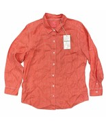 Tommy Bahama Sea Glass Breezer L/S Linen Button Down Shirt Size Large Coral - $49.99
