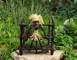 "Tiki Primitive Wine Alcohol Bottle Holder for Tiki Bar Wood Statue  11""x10"" - £22.43 GBP"
