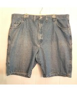 Wrangler Carpenter Blue Jean SHORTS size 46 Relaxed Fit Antique Indigo D... - $14.85