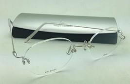 KAZUO KAWASAKI Eyeglasses MP 631 01 NA/48 Rimless Titanium Shiny Silver Frames