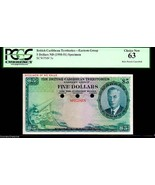 """BRITISH CARIBBEAN TERRITORIES P3s $5 """"MAP NOTE"""" 1964 PCGS 63! EXTREMELY ... - $1,950.00"""