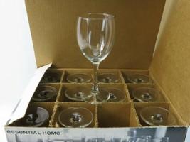 essential home 12 piece wine glass set glassware dishwasher safe clear  - $28.25