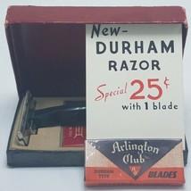 Vintage Durham Duplex1940s Safety Razor Display Model With Extra Blades - $49.95