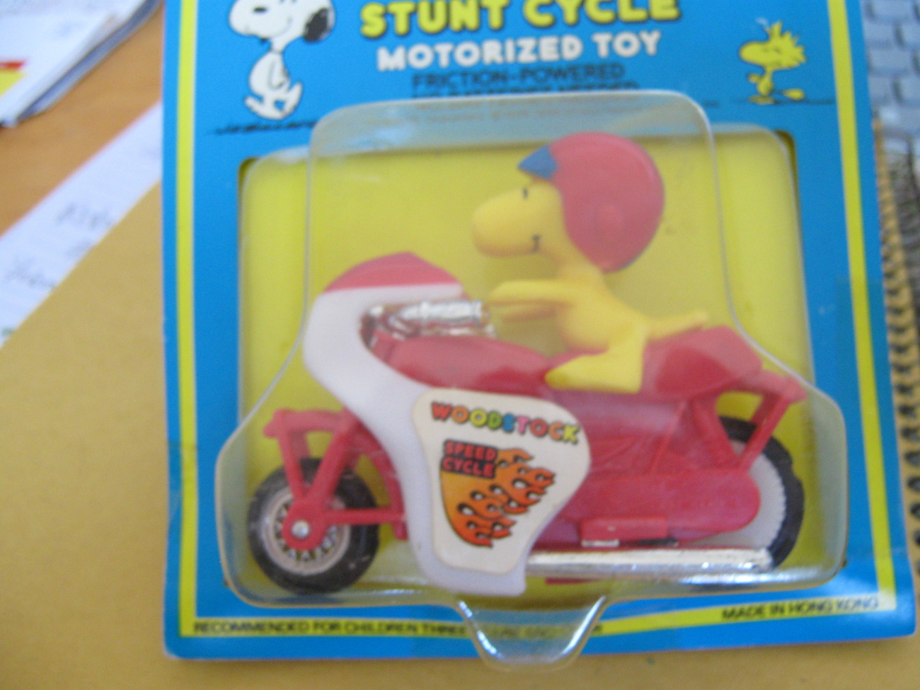 Snoopy Motorized Cycle , STUNT CYCLE , In Original Package