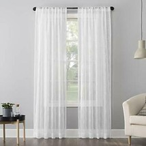 "No. 918 Tamaryn Embroidered Trellis Sheer Curtain Panel, 50"" x 63"", White - $19.95"