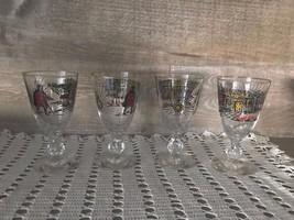 Retro Hunter Wine Glasses Set of Four Vintage - $59.30