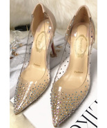 89h192 Spell color crystal pump w colorful rhinestones, Size 4-8.5, apricot - $78.80