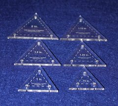 "6 Pc Set Equilateral Triangles .75"", 1"", 1.25"", 1.5"", 1.75"" and 2"" - $22.99"