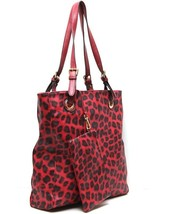 Fashion Tote With Leopard Print Handbag FREE MAKEUP BAG OR CHANGE PURSE - $24.99