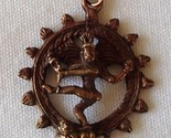 Shiva Natraja Lord of the Dance Copper 3D New Amulet Pendant Necklace OM Hindu