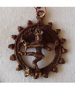 Shiva Natraja Lord of the Dance Copper 3D New Amulet Pendant Necklace OM Hindu  - €23,10 EUR