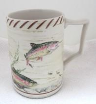 "Riverwood Lenox Rainbow Trout 2000-2004 5"" Coffee Mug Tankard Excelelent Shape  - $39.11"
