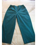 WOMEN LADIES CROFT & BARROW STRETCH TEAL PANTS SIZE 8 - $6.99