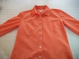 Women Charter Club Peach Career Shirt Lng Slv Sz 4 Nwt - $8.99
