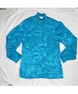 Elissa Turquois Aqua Size 16 Polyester Blouse - $8.99