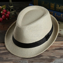 grass Fashion sun hats Foldable womens sunhats women's hat Summer Beach Floppy C image 5