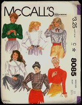 80s Size 10 Bust 32 1/2 Ruffled Blouse McCalls 8085 Vintage Pattern Stea... - $6.99