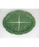 "Bordallo Pinheiro Large Oval Green Cabbage Serving Platter 17"" Long - $39.00"