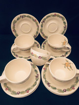 Pfaltzgraff Jamberry Design Cups & Saucers (10 Pieces) 5 Cups 5 Saucers - $38.61