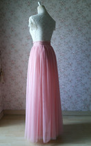 A Line Tulle Wedding Skirt Maxi Long Tulle Skirt Pink Wedding Separate(US0-US30) image 4