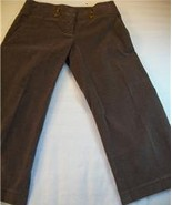 WOMEN LADIES BEBE BROWN CORDUROY CAPRIS PANTS SIZE 2 4 - $10.99