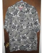 Men's Green Floral Hawaiian Shirt Medium Caribbean Joe  - $14.00
