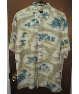 Men's Izod Silk Hawaiian Shirt Size Medium Palm Trees  - $24.99