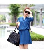 Slim round neck sleeve mini dress - $27.00