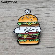 L3675 Creative Hot Dogs Burger Metal Brooches and Pins Enamel Pin for Ba... - $7.99
