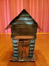 Vintage Outhouse Copper Music Box Penny Bank - $30.00