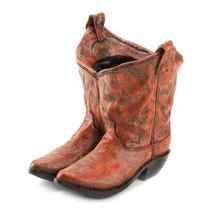 Western Boot Planter, Outdoor Garden Planters, Balcony Resin Cowboy Boot... - $28.93