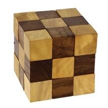 Wooden Puzzle Adult Snake Cube Handmade Gifts India by ShalinIndia - $7.61
