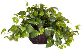 Nearly Natural 6681 Pothos with Vase Decorative Silk Plant, Green - $74.04