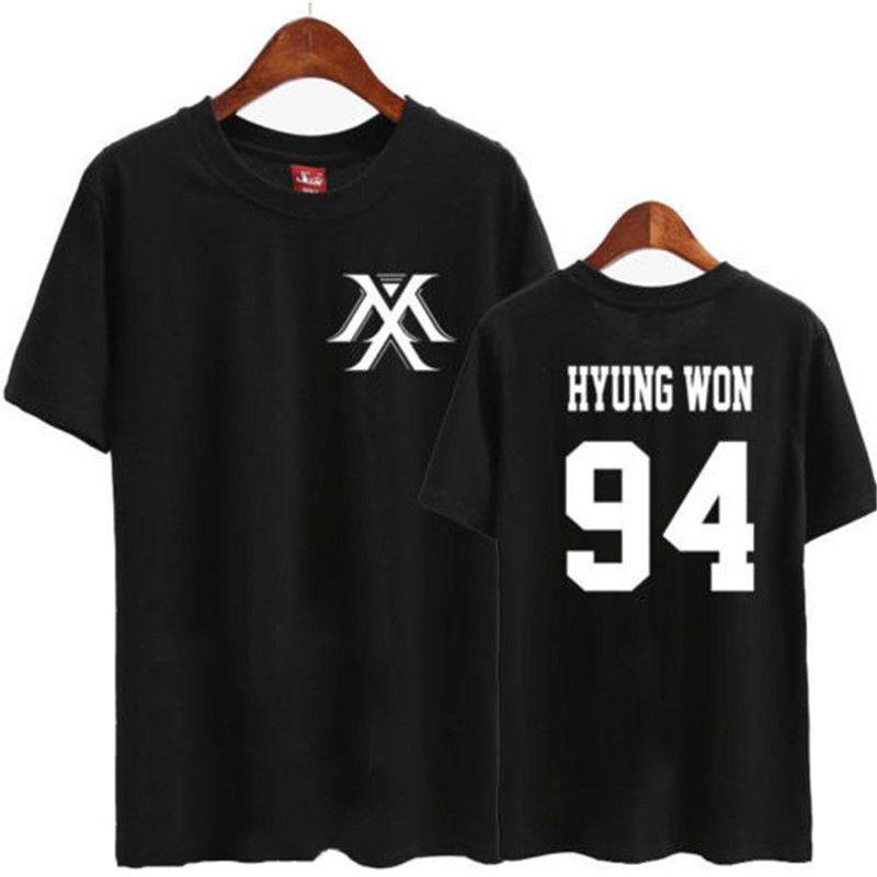 Kpop MONSTA X In Style T-shirt MINHYUK Tshirt TEE Unisex Cotton IM KIHYUN WONHO