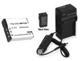 NP-130 NP130 Battery + Charger for Casio EX-H30 EX-ZR100 EX-ZR100BK EXZR... - $25.13