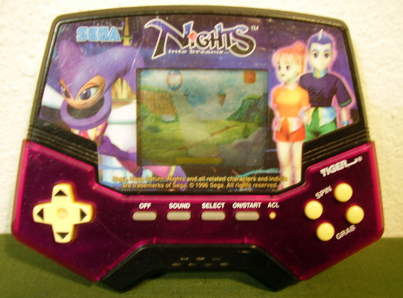 Tiger Sega Nights Into Dreams Handheld Electronic Game