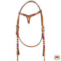 Hilason Argentinian Leather Horse Browband Headstall Brown U-7-HS - $55.39