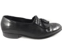 Dexter Men's Black Leather Kiltie Tassel Wingtip Slip On Loafer 436953 s... - $30.69