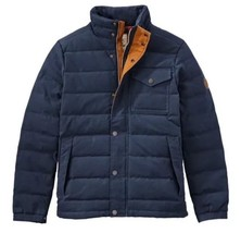 Timberland Men's Mt Davis Waxed Down Jacket, Dark Sapphire. Size:M - $139.32