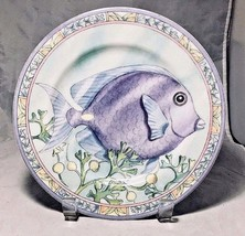 Blue Tang Sea Garden Plate by Siddhia Hutchinson Andrea by Sadek Japan - $9.85